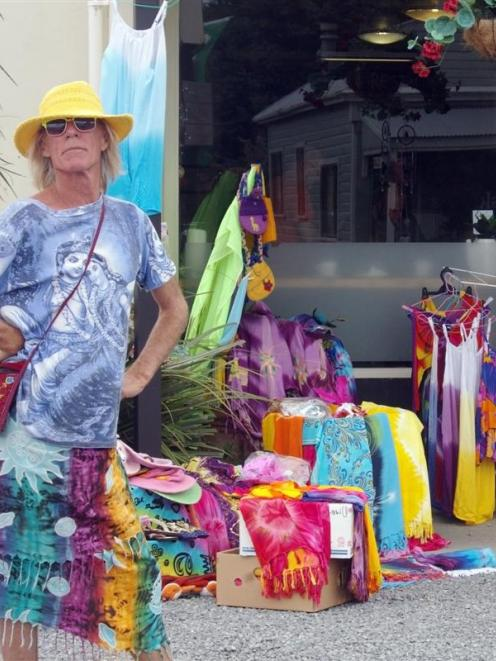 Bas Whitaker (59), of Balclutha, sells clothing  in Owaka.  The inveterate traveller  says people...