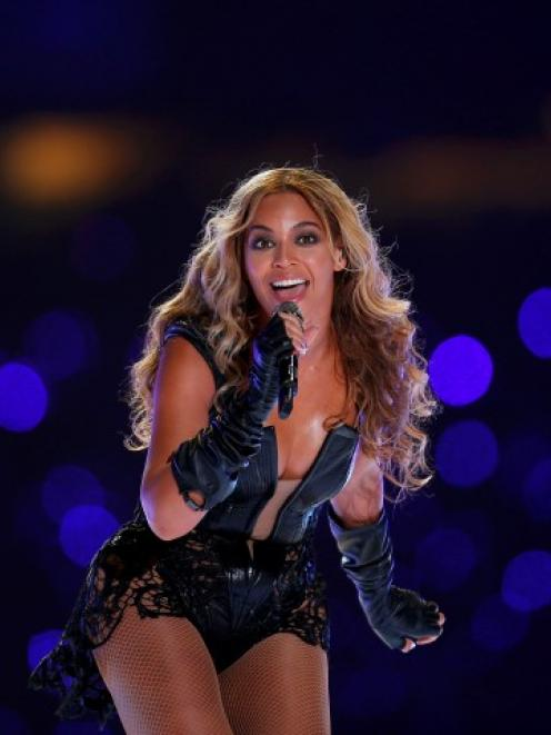 Beyonce performs during the half-time show of the NFL Super Bowl XLVII football game in New...