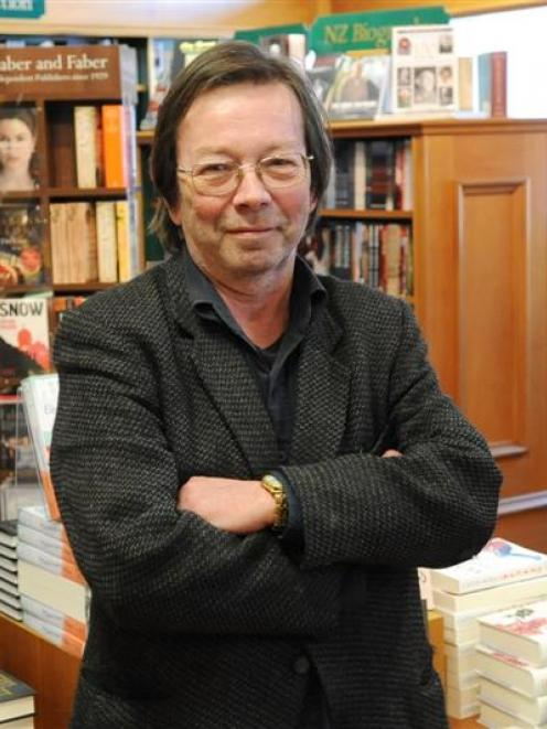 Bill Noble in the University Book Shop. Photo by Linda Robertson.