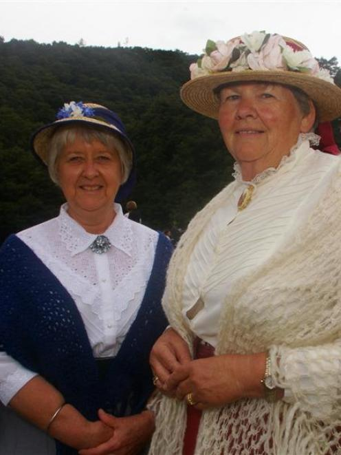 Black Gully sesquicentennial committee members Rhonda Haugh (left) and Diane Glennie, of...