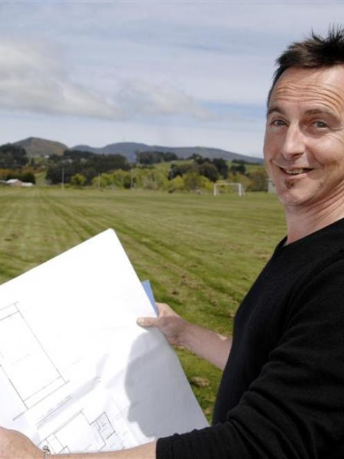 Blueskin Youth Centre Association committee member Dr Paul Sirota studies concept plans for a...