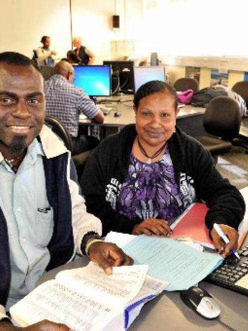 Bougainville public servants Raymond Minaka and Ginama Holi study at the Otago Polytechnic as...