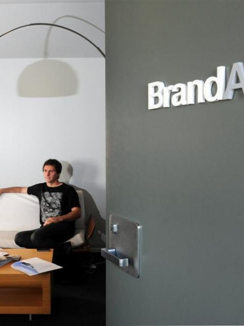 BrandAid founder and creative director Luke Johnston at his Bath St headquarters. Photo by Craig...