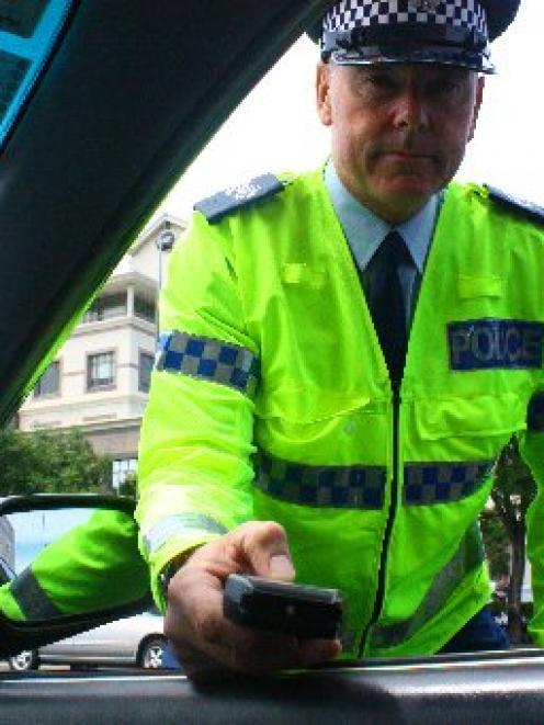 Breathe in ... Southern District highway patrol Senior Sergeant Steve Larking says people should...