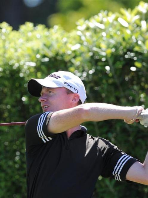 Brent McEwan in  action in the Otago strokeplay championship at Balmacewen at the weekend. McEwan...