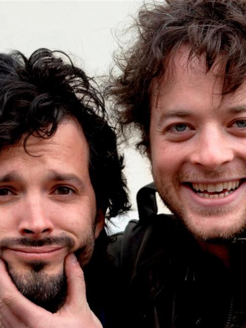 Bret McKenzie (left), of The Flight of the Conchords, and Hamish Blake, of Australia's Hamish and...