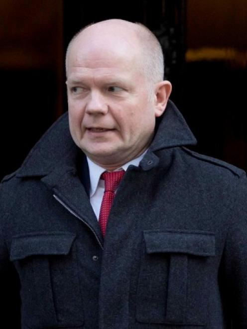 Britain's Foreign Secretary William Hague. REUTERS/Neil Hall