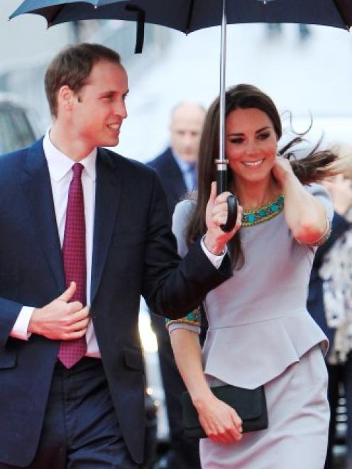 Britain's Prince William and Catherine Duchess of Cambridge arrive for the British Premiere of ...