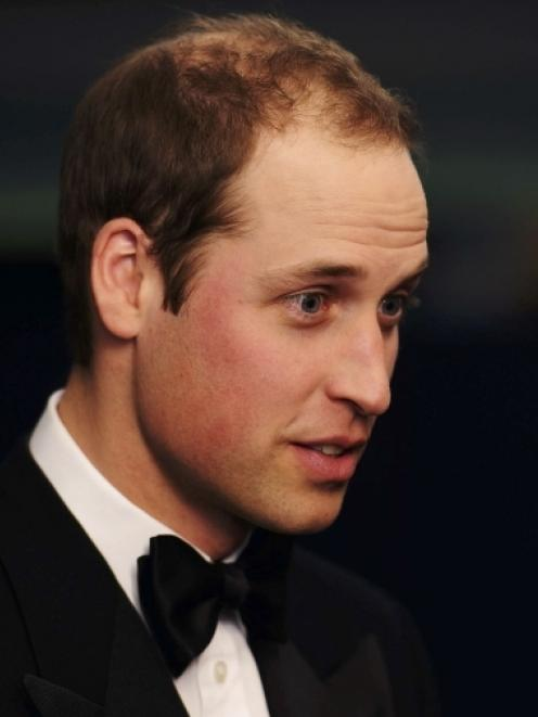 Britain's Prince William attends the UK premiere of War Horse at the Odeon Leicester Square...