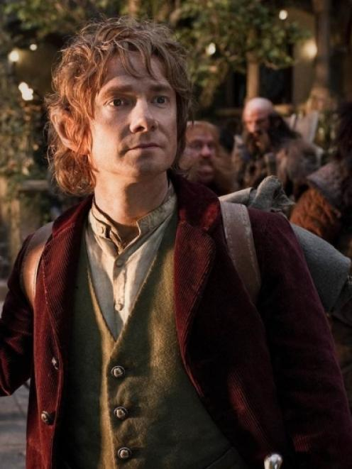 British actor Martin Freeman stars as Bilbo Baggins in The Hobbit: An Unexpected Journey. Photo...