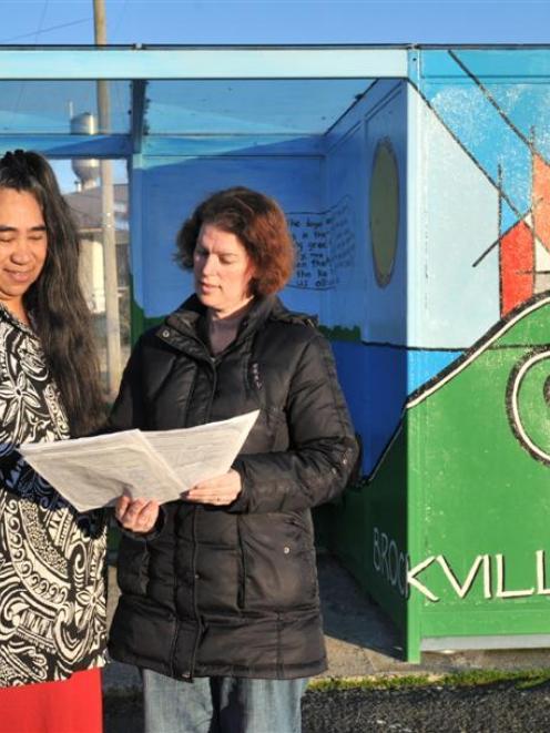 Brockville Community Support Trust secretary Marie Laufiso (left) and board member Jasmine Hunter...