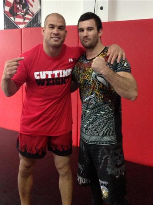Brogan Anderson (right) and Tito Ortiz. Photo supplied.