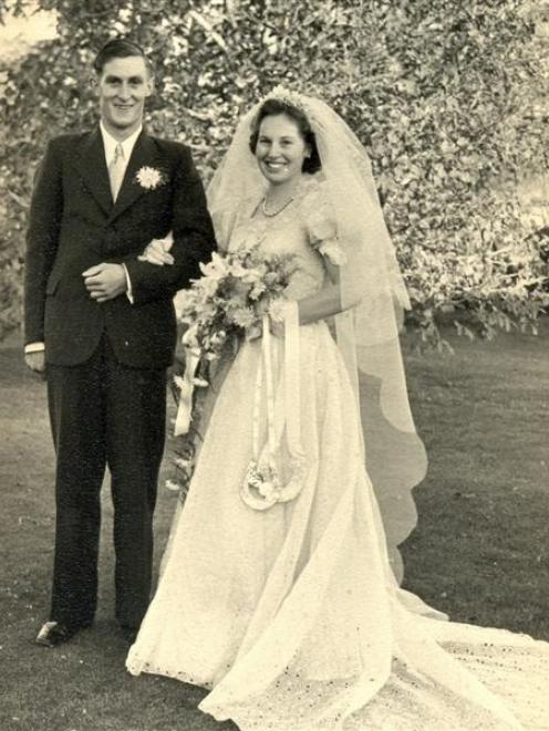 Bruce and Mary King on their wedding day in 1954. Photo supplied.