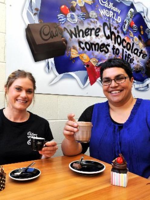 Cadbury World Cafe duty manager Shari Kwapil (left) and Cadbury World manager Kylie Ruwhiu...