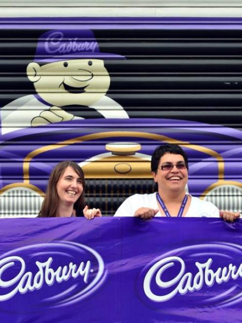 Cadbury World events manager Kylie Ruwhiu-Karawana (right) and events team member Deborah Stuut...