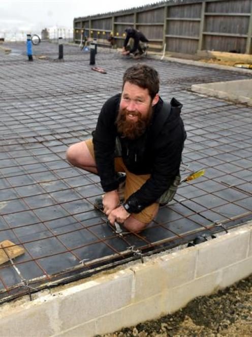 Caldwell Builders owner Paul Caldwell at a building site on Stuart St, Dunedin. Photo by Peter...