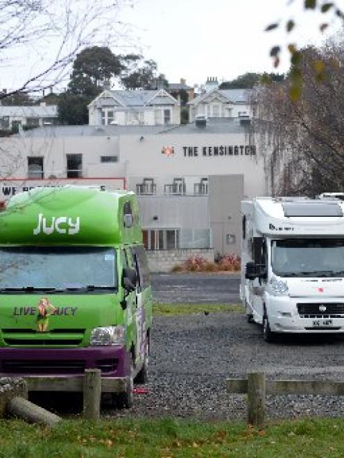 Campervans parked in Ardmore Dr near the Kensington Tavern. PHOTO: STEPHEN JAQUIERY