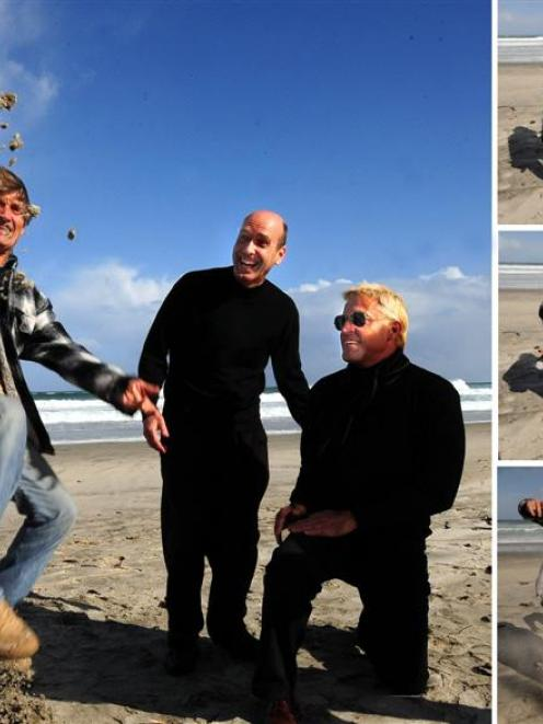 Camut Band founders Rafael Mendez (left) and Toni Espanol (right) check out the sand at St Clair...