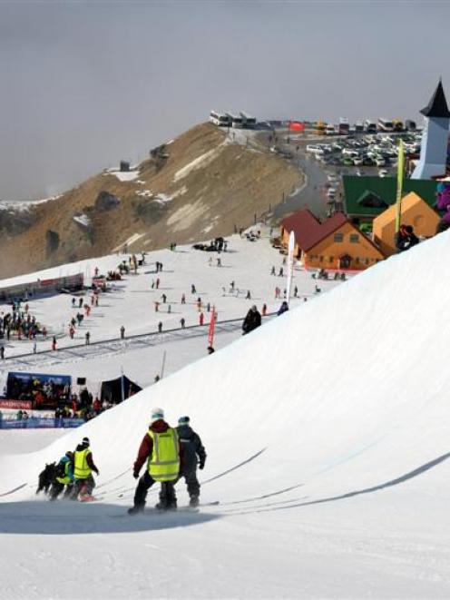 Cardrona Alpine Resort last August.  Photo by Stephen Jaquiery.