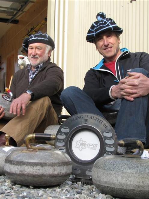 Cardrona Curling Club president John Harridge (left) and secretary-treasurer Roger Gardiner with...