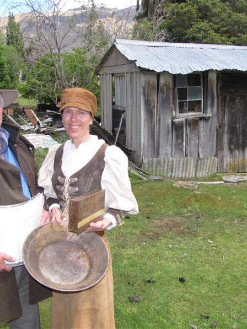 Cardrona Heritage Trust committee member Tim Scurr and Cardrona Vintage Fair co-ordinator Hil...