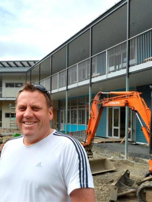 Carisbrook School principal Ben Sincock is pleased with the rapid transformation of the former...