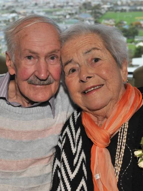 Cecil (87) and Dawn (83) Turner who celebrated their 65th weeding anniversary at Frances Hodgkins...