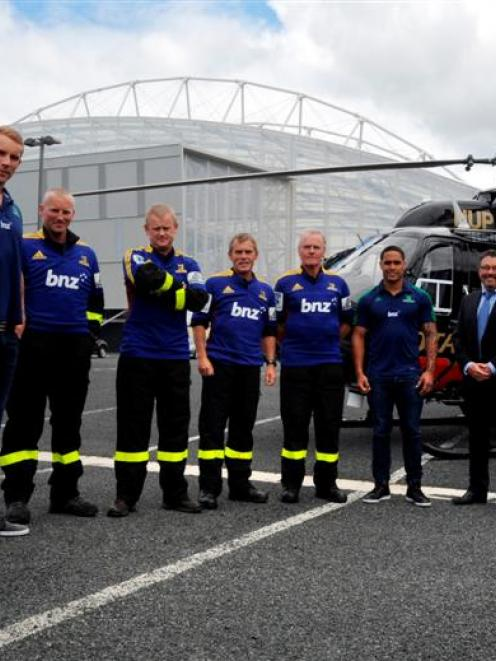 Celebrating the Highlanders and Otago Rescue Helicopter Trust 2013 official charity partnership...