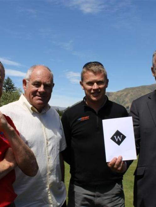 Celebrating  the launch of a new Wanaka Ambassador programme are (from left) Warbirds over Wanaka...