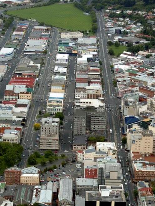 Central Dunedin, looking south....