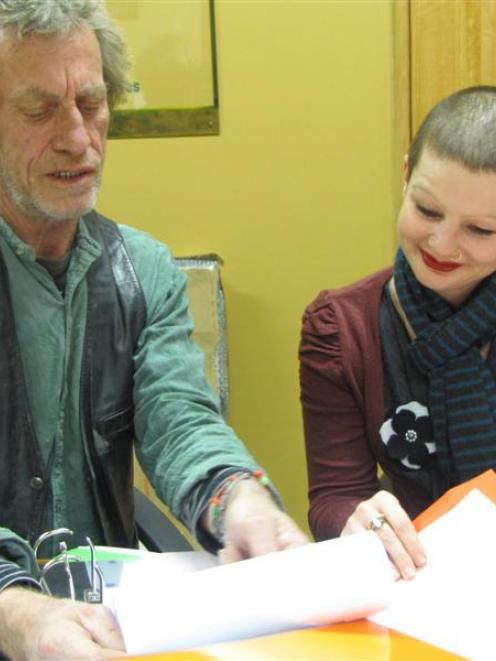 Central Otago Art Awards selectors Jim Cooper, of Dunedin, and Kathryn Mitchell, of Invercargill,...
