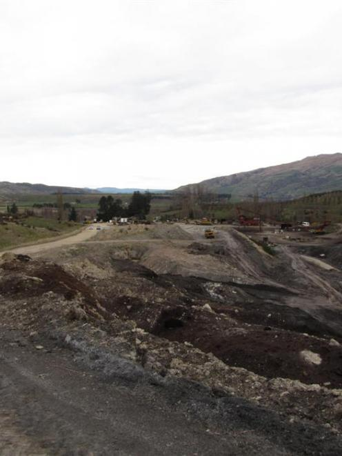 Central Otago District Council infrastructure services manager Jon Kingsford with the realigned,...
