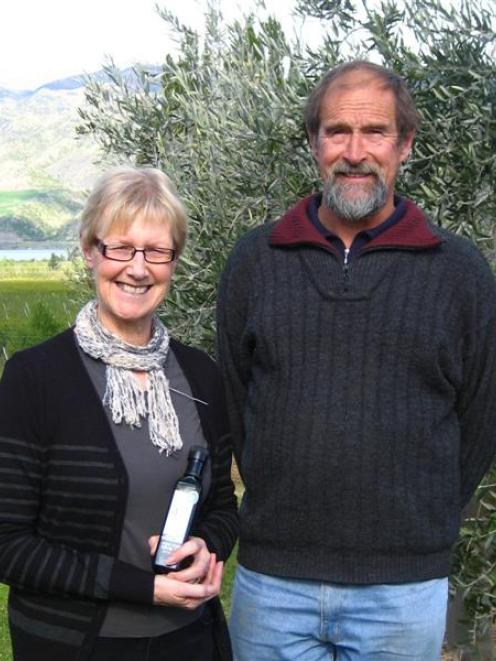Central Otago Olive Growers president Sue Stark and Steve Clark, of Cairnmuir Olives. Photo by...