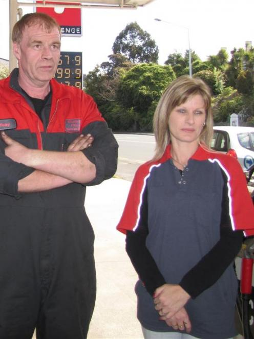 Challenge Fitzroy Service Station owners Tony and Sheryl Mathieson were upset to find their...