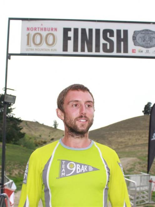 Charlie Sharpe, of Warrington, England, after winning The Northburn 100-miler mountain run. Photo...