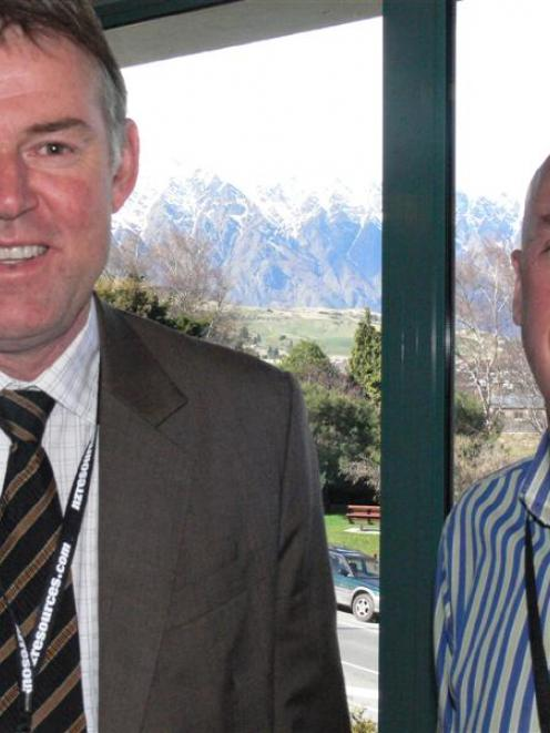 Chief executive Richard Michael of lobby-group Straterra (left) and Solid Energy chief executive...