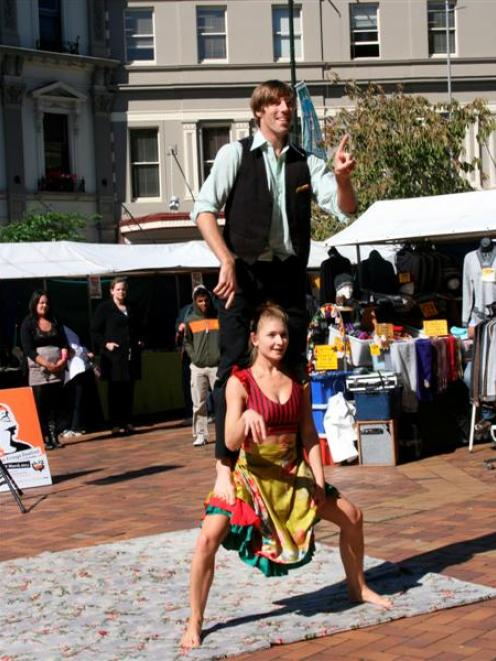 Choreographers Geoff Gilson and Julie Van Renen, of Auckland, perform Capturing Other in the...