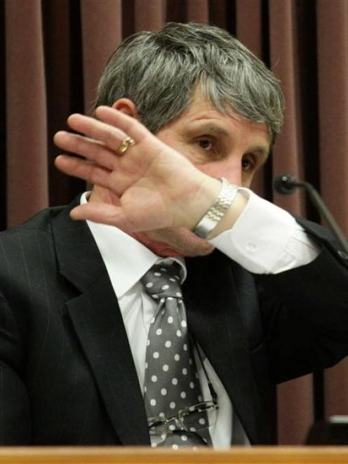 Christchurch-based pathologist Dr Martin Sage gives evidence yesterday in the High Court trial of...