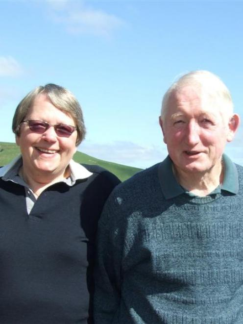 Christine and Murray Rose, at their home in Waitahuna yesterday. Photo by Helena de Reus.