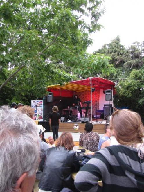 Civilian Sol (Dannevirke L'Hiboux, of Wanaka) played a late-afternoon set at the Banny Music Fest...