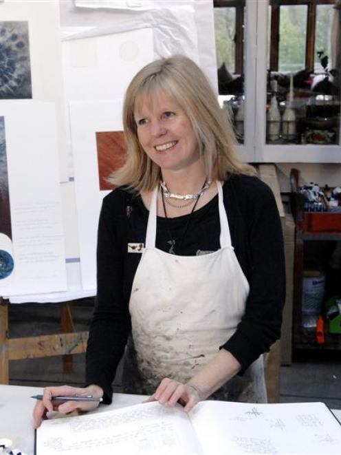 Claire Beynon at work in her Ravensbourne studio this week.