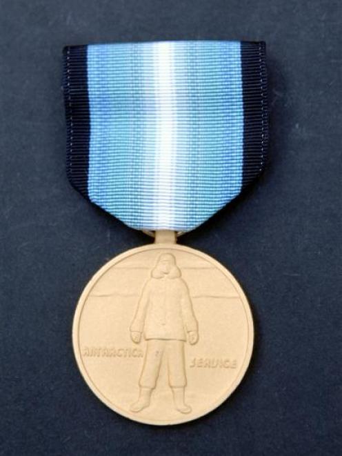 Claire Beynon's Antarctica Service Medal. Photos by Linda Robertson.