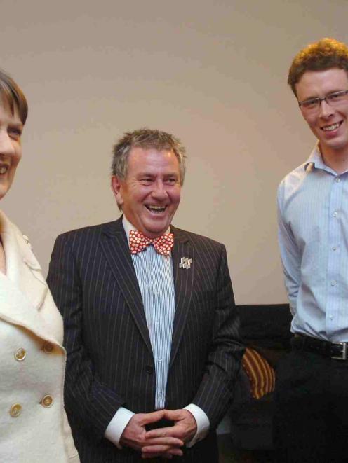 Prime Minister Helen Clark meets University of Otago acting vice-chancellor Prof Gareth Jones (at...