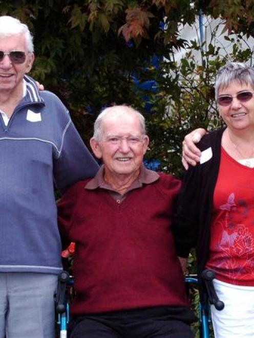 Cleveland family siblings Les, Bernie, Ian, Sherwyn and Doug in Dunedin yesterday for the last of...