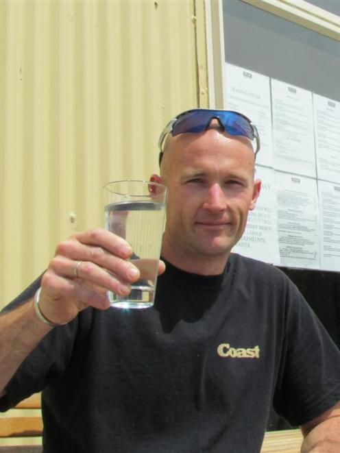 Coast Cafe and Restaurant owner Richard Collins salutes the decision to link the Oamaru and...