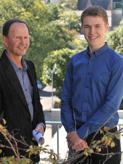 Colin Robertson (left), of Invercargill,  reflects on the inaugural Douglass D. Crombie Award,...