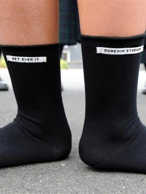 Columba College's Young Enterprise group will be selling socks with a message at Saturday night's...