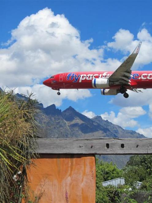 Commercial passenger jets  landing at  Queenstown Airport  disrupt residents living below the...