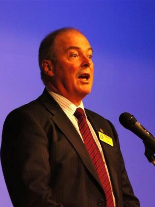 Community Trust of Otago chairman Bill Thomson attempts to steer discussion away from the Awatea...
