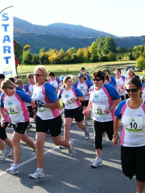 Competitors set off in this year's Real Women's Duathlon at Millbrook Resort. Photo by James Beech.